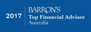 Barrons award Top Financial Adviser Hamilton Wealth 2017