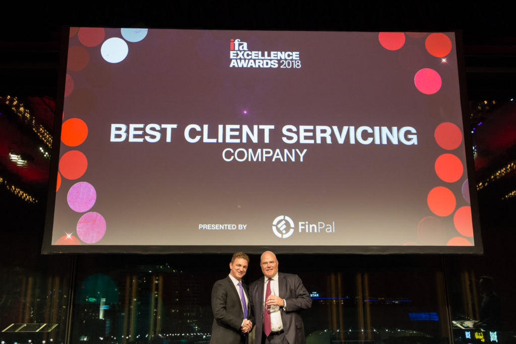 Best Client Servicing – Company award winner at the ifa Excellence Awards 2018