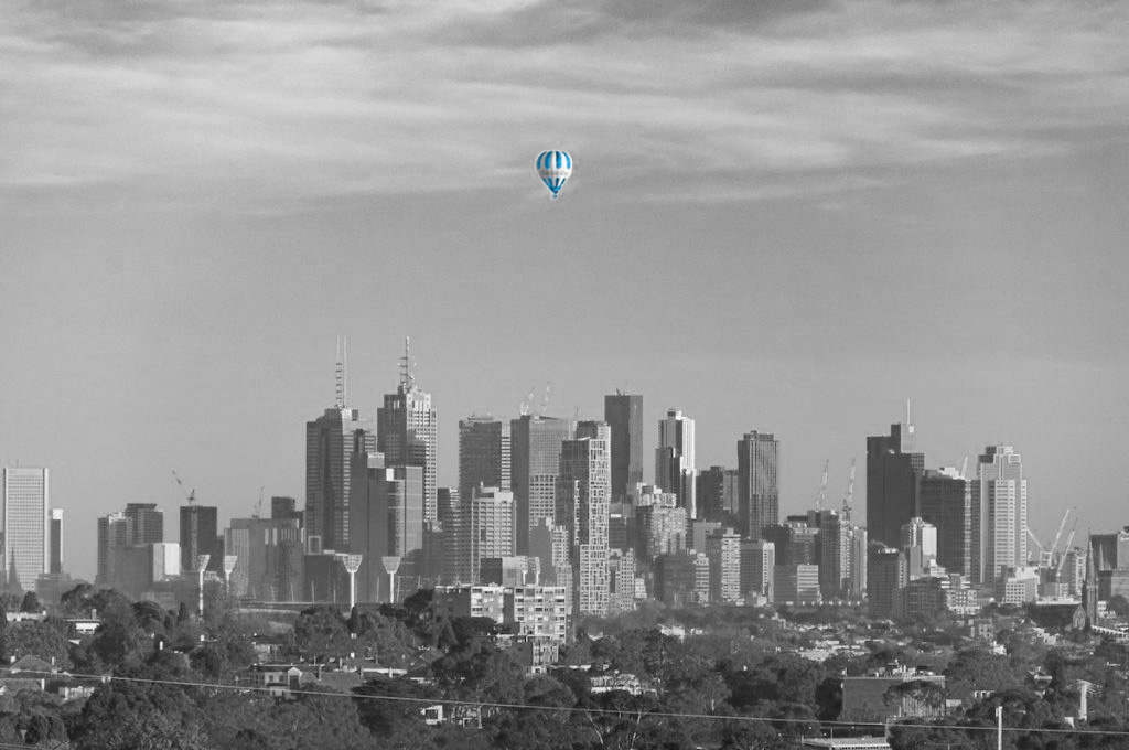 Our Financial Services & Wealth Management Hot Air balloon over Melbourne